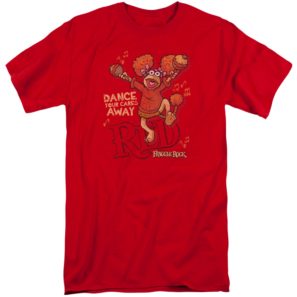 Fraggle rock shirt dance red tall t shirt fraggle rock for Big and tall rock t shirts