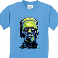 Frankenstein Face Kids Shirts