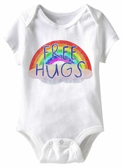Free Hugs Funny Baby Romper White Infant Babies Creeper