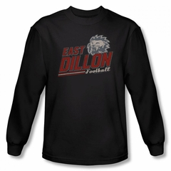 Friday Night Lights Shirt East Dillon Long Sleeve Black Tee T-Shirt