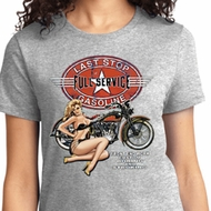 Full Service Gas Ladies Biker Shirts