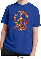Funky Peace Kids Moisture Wicking Tee T-Shirt