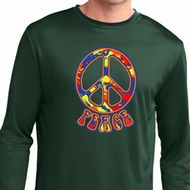 Funky Peace Mens Dry Wicking Long Sleeve Shirt