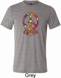 Funky Peace Mens Tri Blend Crewneck Shirt