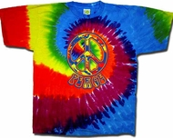 Funky Peace Sign Symbol Retro Swirl Adult Unisex T-shirt Tee Shirt