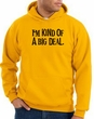 Funny Hoodie I'm Kind of a Big Deal Black Print Hoody Gold