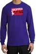 Funny Long Sleeve T-Shirt - Dropped On My Head As A Child Purple Tee