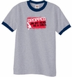 Funny Ringer T-Shirt - Dropped On My Head As A Child Heather Grey/Navy