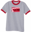 Funny Ringer T-Shirt - Dropped On My Head As A Child Heather Grey/Red