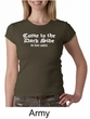 Funny Shirt Come To The Dark Side Ladies Crew Neck Shirt