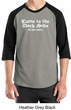 Funny Shirt Come To The Dark Side We Have Cookies Adult Raglan Shirt