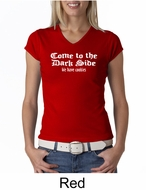 Funny Shirt Come To The Dark Side We Have Cookies Ladies V-neck Shirt
