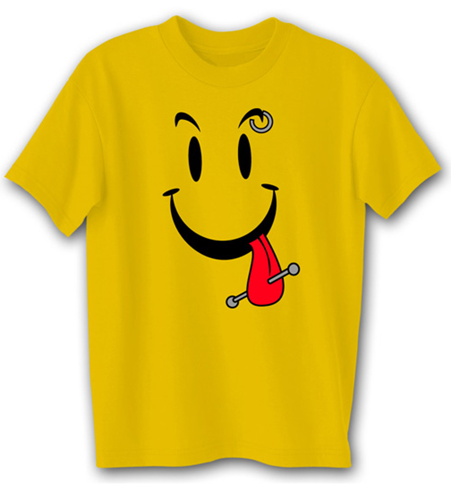 funny shirt cool smiley face gold tee shirt funny t. Black Bedroom Furniture Sets. Home Design Ideas