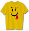 Funny Shirt Cool Smiley Face Gold Tee Shirt