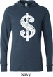 Funny Shirt Distressed Dollar Sign Lightweight Hoodie Tee
