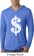 Funny Shirt Distressed Dollar Sign Lightweight Hoodie Tee T-Shirt