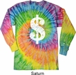 Funny Shirt Distressed Dollar Sign Long Sleeve Tie Dye Tee Shirt