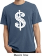 Funny Shirt Distressed Dollar Sign Pigment Dyed Tee T-Shirt
