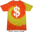 Funny Shirt Distressed Dollar Sign Tie Dye Tee T-shirt
