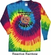 Funny Shirt Thirsty Pretzels Long Sleeve Tie Dye Tee Shirt