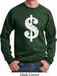 Funny Sweatshirt Distressed Dollar Sign Sweat Shirt