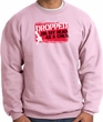 Funny Sweatshirt - Dropped On My Head As A Child Pink Sweat Shirt