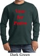 Funny Vote for Pedro Kids Long Sleeve Shirt