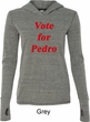 Funny Vote for Pedro Ladies Tri Blend Hoodie Shirt