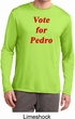 Funny Vote for Pedro Mens Dry Wicking Long Sleeve Shirt