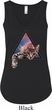 Galactic Cat Ladies Flowy V-neck Tank Top