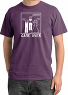 Game Over Ceremony Pigment Dyed Plum T-shirt - White Print