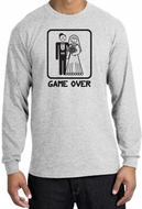 Game Over Long Sleeve Shirt Funny Marriage Ash Shirt - Black Print