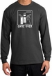 Game Over Marriage Ceremony Long Sleeve Charcoal Shirt - White Print