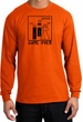 Game Over Marriage Ceremony Long Sleeve Orange Shirt - Black Print