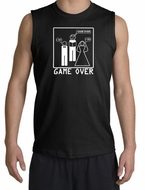Game Over Marriage Ceremony Shooter Black Muscle Shirt - White Print