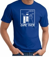 Game Over Marriage Ceremony T-shirt Funny Royal Tee - White Print