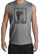 Game Over Muscle Shirt Funny Marriage Sports Grey Shooter Black Print