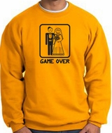 Game Over Sweatshirt Funny Marriage Gold Sweatshirt - Black Print