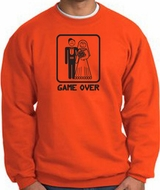 Game Over Sweatshirt Funny Marriage Orange Sweatshirt - Black Print