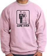 Game Over Sweatshirt Funny Marriage Pink Sweatshirt - Black Print