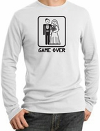 Game Over Thermal Shirt Funny Marriage White Shirt - Black Print