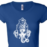 Ganesha Head Ladies Yoga Shirts