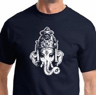 Ganesha Head Mens Yoga Shirts