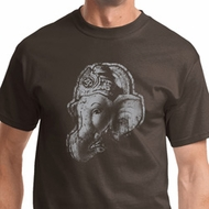 Ganesha Profile Mens Yoga Shirts