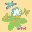 Garfield BUTTERFLY Juniors Size Fitted Girly T-shirt Tee Shirt