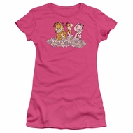Garfield Juniors Tee Shirt Chicks Dig Flowers T-shirt
