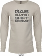 Gas Clutch Shift Repeat Grey Print Long Sleeve Thermal Shirt