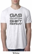 Gas Clutch Shift Repeat Grey Print Mens Burnout Shirt