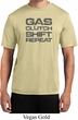 Gas Clutch Shift Repeat Grey Print Mens Moisture Wicking Shirt