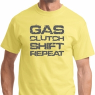 Gas Clutch Shift Repeat Grey Print Mens Shirts